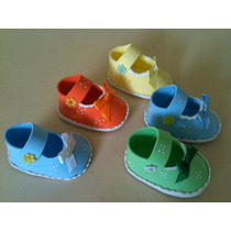 Recuerdos Zapaticos En Foami Baby Shower Nenas