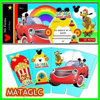 Invitaciones La Casa De Mickey Cajas Cupcakes Gorritos Kit