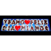 Bombones De Chocolate Frases Letras Numero Relleno Regalo