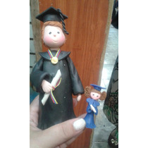 Recuerdo Graduacion Graduando Grado Toga Torta
