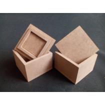 Cajas, Cajitas Mdf Crudo Lijadas. De 4x4x3cm.