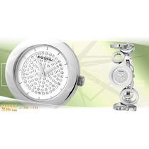 Hermoso Reloj Fossil Para Dama En Acero Tipo Pulsera