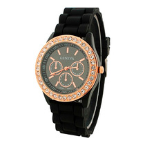 Reloj Geneva Brillantes Hkwatch Original Color Pulsera Damas