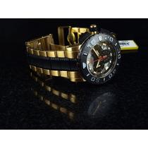 Reloj Invicta Mens Swiss Reserve Ocean Gold 18kl Black Origi