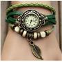 Reloj Pulsera Vintage Cuero Dama Relojes Somos Tienda