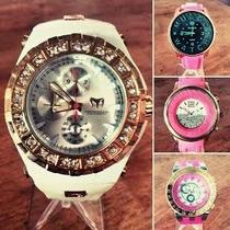 Relojes Mulco Hk Diesel Y Guess Damas Elegantes Animal Print