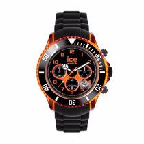 Reloj Ice Watch Electrik Negro Y Naranja 53mm
