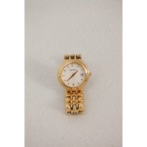 Reloj Michele Para Dama, Acero Bañado En Oro.