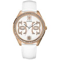 Reloj Para Dama Guess U95077l1 Correa De Cuero - Original -