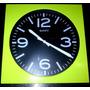 Reloj De Pared Cuadrado Moderno 27x27cms 4897 Xavi