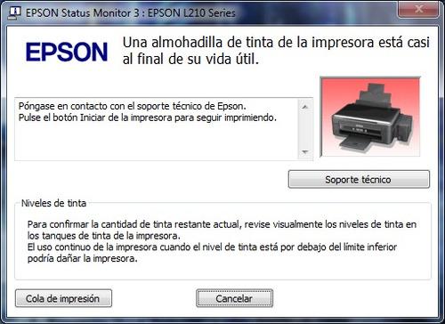 Reparación De Impresoras O Servicio Técnico Epson
