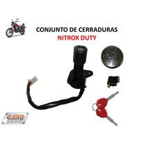 Conjunto De Cerradura Moto Um Nitrox Duty 150 Original