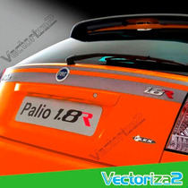 Calcomania Lateral O Maleta Para Palio 1.8r Amarillo/rojo V2