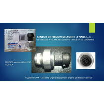 Sensor Presion Aceite Silverado Cheyenne Tahoe Acdelco126166
