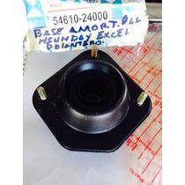 Base Amortiguador Del Hyundai Excel 3 Tornillos Con Rolinera