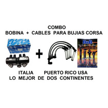 Combo Bobina Lisa + Cable Bujías 8mm 300ohm Chev Corsa