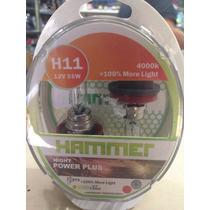 Bombillo Halógeno H11 Hammerhead Night Power Plus 100% + Luz