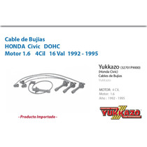 Cable Bujias Honda Civic 4cil Mot1.6 1992-1995
