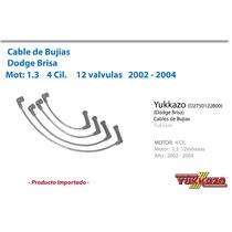 Cable Bujias Dodge Brisa Mot1.3 4cil 2002-2004 12val