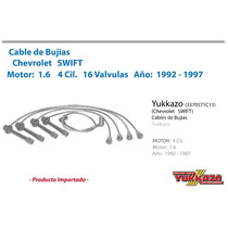 Cable Bujias Chevrolet Swift 4cil Mot1.6 16val 1992-1997