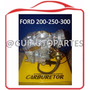 Carburador Ford 300 Bajo Choque Electrico Adaptar A 200-250