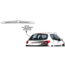 Platina Cromada Maletera Compuerta Peugeot 206