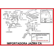 Buche Guardafango Del Izquierdo 4runner 2003 205 Orig Toyota