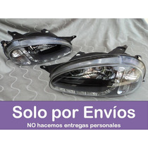 Faro Faros Corsa Tipo Audi Fondo Negro Con Leds -- El Par!