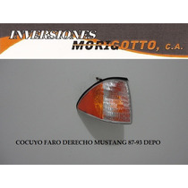 Cocuyo Faro Cruce Derecho Ford Mustang 87-93 Depo