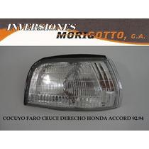 Cocuyo Faro Cruce Honda Accord 90-93 Depo Derecho O Izquierd