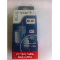 Filtro Gasolina Universal Interfil Fgi-024 Sólo Al Mayor