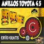 Anillos Toyota 4.5 Marca Npr Originales 0.10/0.60