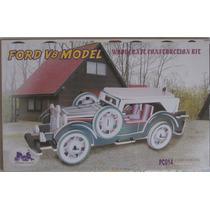 Rompecabezas Tridimensional En Madera Balsa Ford V8 Modelo