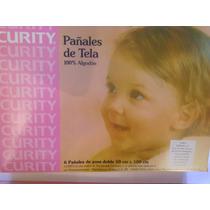 Pañales De Tela Curity, 100% Algodon, Para Niñas Y Niños...