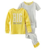 Set De Pijamas 03 Piezas Niñas Y Niños Marca Carters Bebes