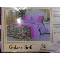 Sabanas Queen Galaxy Soft 100 %algodon 220 Hilos
