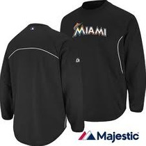 Sweater Majestic Therma Base Marlins Miami