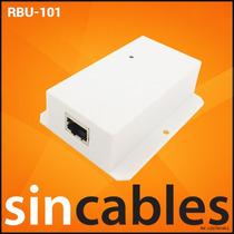 Mikrotik Inyector Poe Ethernet Pasivo 10~48v 802.3af Rbu-101