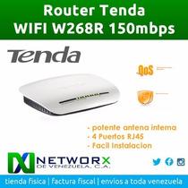 Router Tenda W268r 150mbps Antena Interna 4 Rj45 Wifi Red