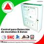 Central De Detección De Incendios De 8 Zonas