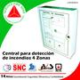 Central De Detección De Incendios Z4, 4 Zonas - C089