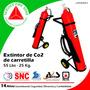 Extintor De Carretilla De Co2, 25 Kg. 55 Lbs.
