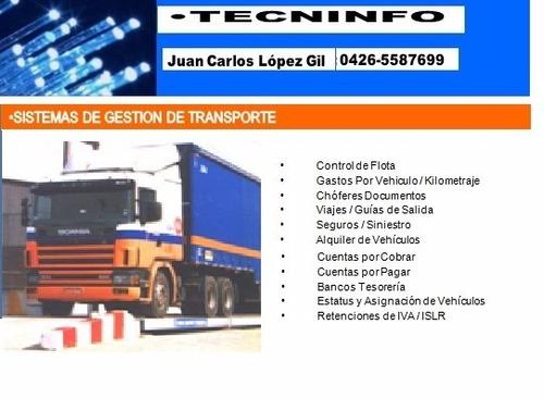 Sistemas:transporte, Admnistrativo, Almacenadora,tintoreria