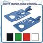 Porta Carnets Plastico 2 Posiciones C/ganc X Unidad