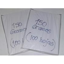 Papel Glase 150 Gramos 100 Hojas Tamaño Carta