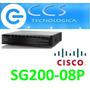 Switch Cisco Linksys Sg200 Small Business 8 Puertos Poe Giga
