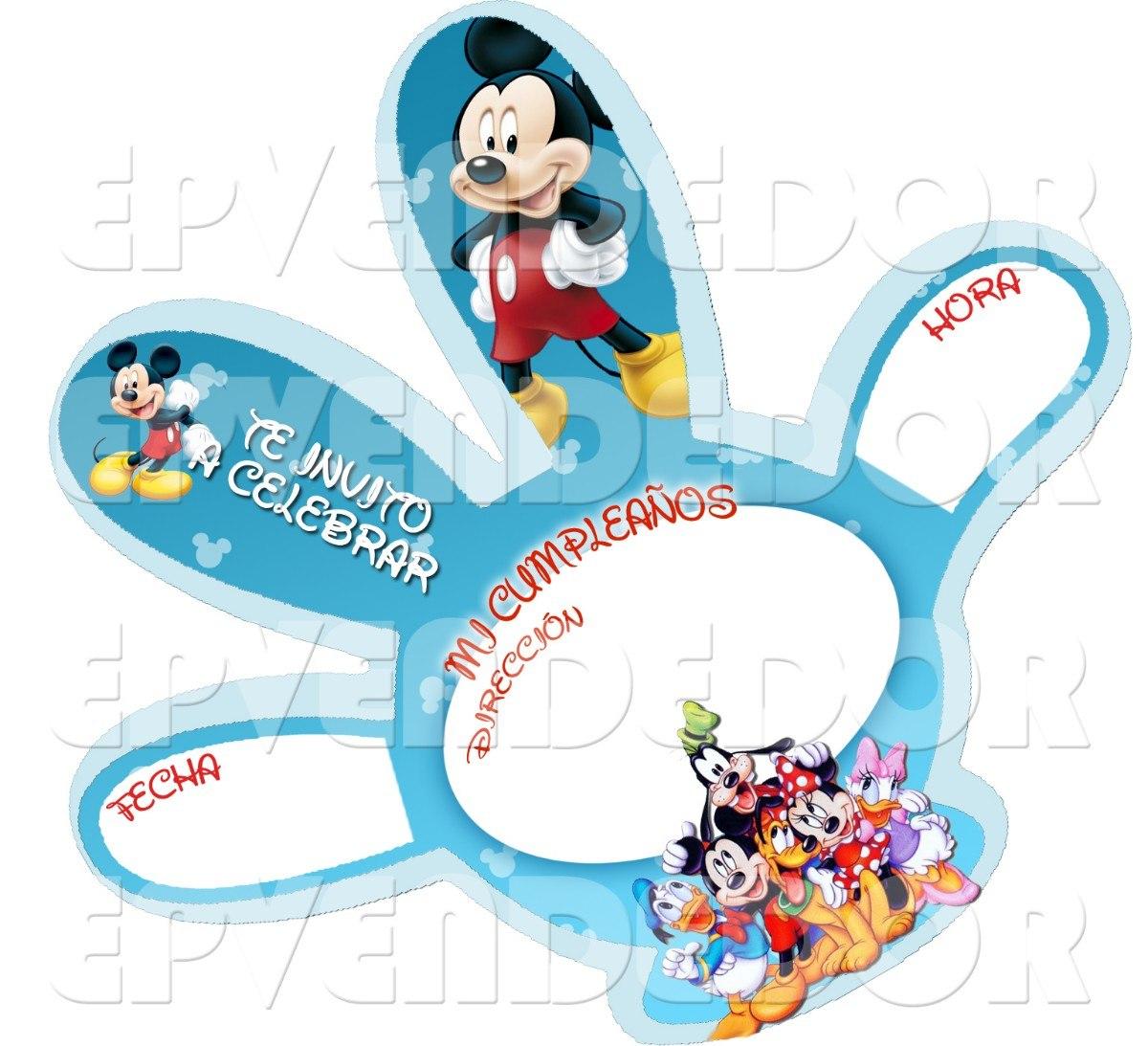 Tarjetas De Invitacion Mickey Mouse -invitaciones Epvendedor - Bs. 83 ...
