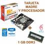 Combo Tarjeta Biostar J1800n + Cpu Intel Dual 2,41 Ghz+ 1 Gb