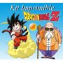 Kit Imprimible Dragon Ball Z Invitaciones Editables, Tarjeta