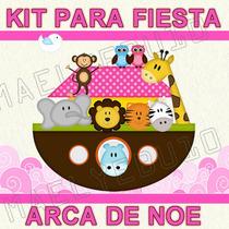 Kit Imprimible Baby Shower Arca De Noe Niña